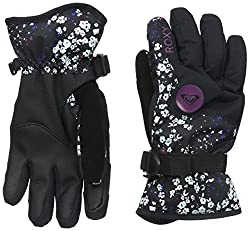 Roxy SNOW Junior's Jetty Printed Snow Gloves, Ditsy Floral, Medium