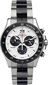 Michel Herbelin Newport Trophy Men's Quartz Watch with White Dial Chronograph Display and Silver Stainless Steel Bracelet 36670/BNA21