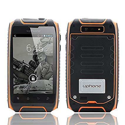 Uphone U5+ IP67 Smartphone - 3.5 Inch Display,1.3GHz Dual Core CPU, Dual SIM, Waterproof, Dust Proof, Shockproof (Orange)