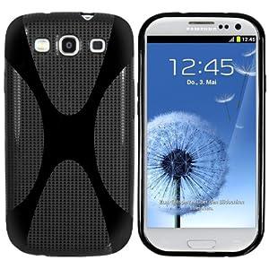 mumbi X-TPU Silikon Schutzhülle für Samsung Galaxy S3 i9300 schwarz
