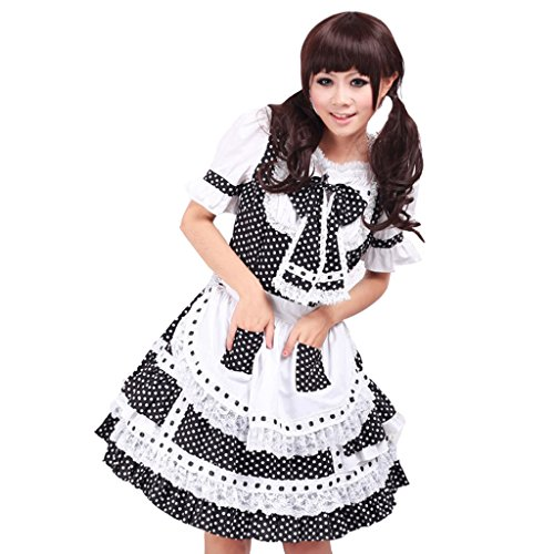 CosplayDiy Women's Pink Maid Fancy Outfit Dress