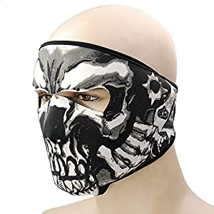Fashion Skull Windproof Warm Face Mask for Ski Ice Fishing Cross Country Hunting Nordic Skiing Hiking Cycling Facemask Motorcycle Snowboard Face Shields