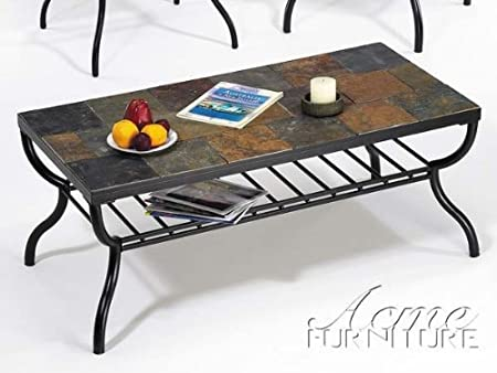 Stone Top Coffee Table By Acme Furniture
