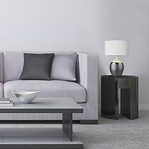 Designer Reactive Glaze Mottle Brown / Grey / Cream Ceramic Vase Base Table Lamp With Beautiful White Fabric Pendant Light Shade