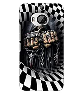 PrintDhaba Skeleton D-3674 Back Case Cover for HTC ONE M9 PLUS (Multi-Coloured)