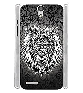 Tatto Lion Furious Soft Silicon Rubberized Back Case Cover for InFocus M260