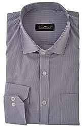 Edinwolf Men's Formal Shirt (EDFR717_40, White and Black, 40)