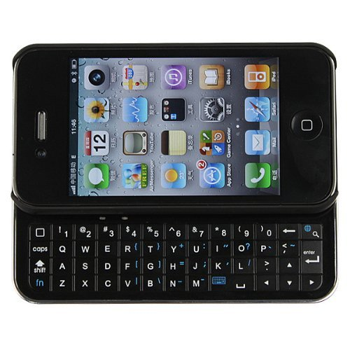 Brand New Wireless Bluetooth Sliding Keyboard + Rubberized hard shell case for iphone 4 (AT&T or Verizon)