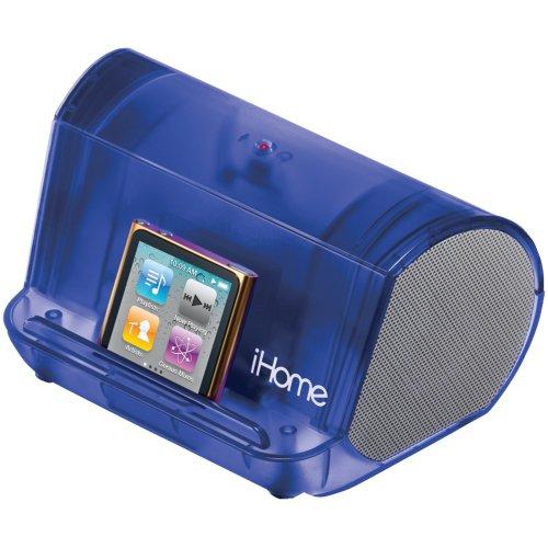 Ihome Ihm9Lt Portable Mp3 Player Speaker System (Blue Translucent)
