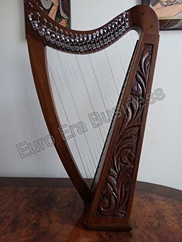 22-string-irish-harp-with-levers-tuning-key-extra-string-carrying-bag