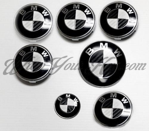 blanc-et-noir-en-fibre-de-carbone-bmw-embleme-badge-overlay-capuche-de-jantes-compatibles-avec-toute