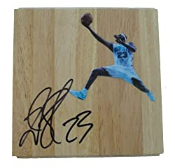 Devin Brown Autographed New Orleans Hornets Photo Floorboard, Photo Proof