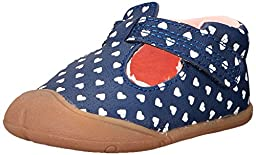 Carter\'s Every Step Amy Stage 1 Crawl Walking Shoe (Infant), Navy Print, 2 M US Infant