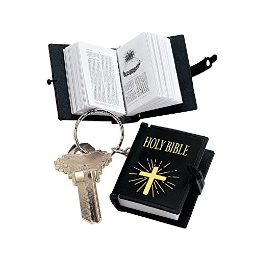 Plastic Bible Key Chains (1 dz) (Mini Bibles compare prices)