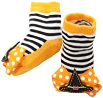 Mud Pie Baby-Girls Newborn Halloween Socks, Multi, 0-12 Months