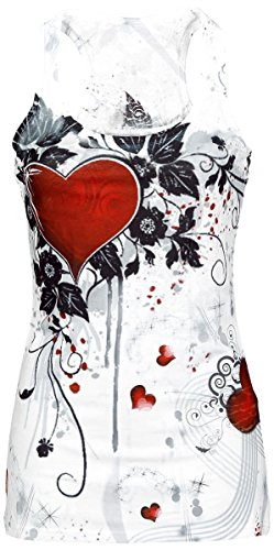Innocent Rose Heart Top donna bianco S