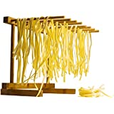 Bamboo Collapsible Pasta Drying Rack By Culinary Chief