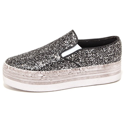 6865P sneaker zeppa JEFFREY CAMPBELL JC SLIP ON nero scarpa donna shoe woman [40]