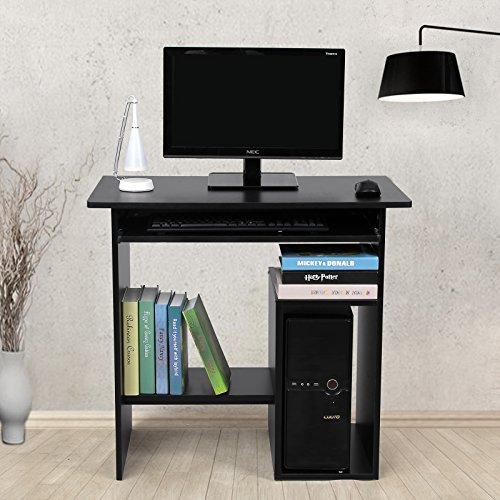 Songmics Scrivania porta PC Tavolo per Computer Con Ripiani Tastiera Scorrevole LCD852B