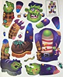 Halloween Reusable Window Cling ~ Build Your Own Monster (Frankenstein; 14 Clings, 1 Sheet)