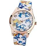 Tonsee Latest Popular Vintage Leather Rivet Bracelet Quartz Wrist Watch for Woman