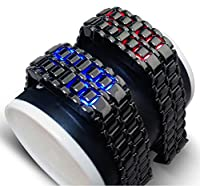 LED Gunmetal Grey (with Blue LED) Lava Faceless Bracelet Style Fashion. 2014 Fashion.