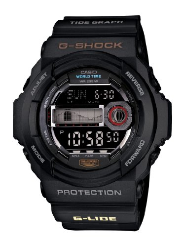 Casio Men's GLX150-1 G-Shock Multi-Function Black Resin Digital Watch Reviews