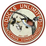 Ducks Unlimited Round Retro Vintage Tin Sign