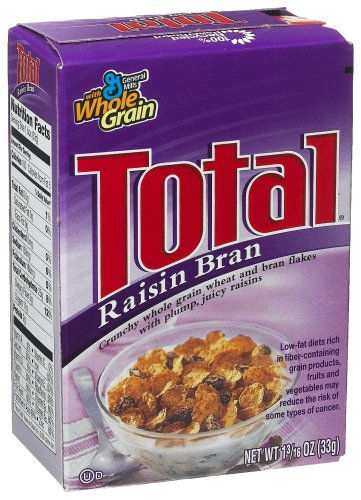 Buy General Mills Total Raisin Bran Cereal, 0.187-Ounce Single Packs (Pack of 70) (General Mills, Health & Personal Care, Products, Food & Snacks, Breakfast Foods, Cereals)