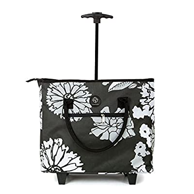 Lightweight Small Wheeled Shopping Tote Bag Wheels Trolley Cabin Airline Easyjet