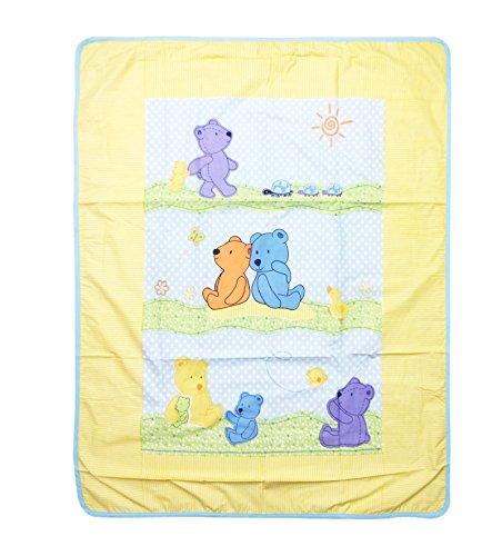 WonderKids Strips Print Baby Quilt