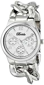 Breda Women's 7224-silver .BR Penelope Oversized Chain Band Set Watch