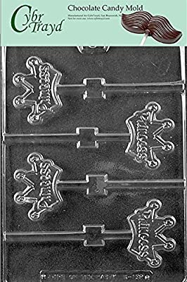 Cybrtrayd Princess Crown Pops Kids Chocolate Candy Mold
