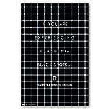 "Flashing Black Spots 22""x34"" Art Print Poster ~ Trends International"