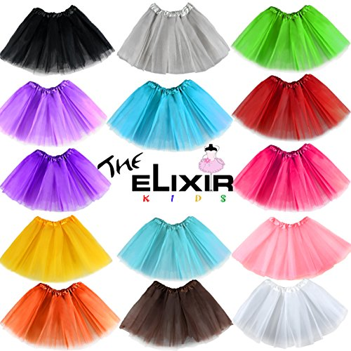 The Elixir KIDS, Girls Tutu Dress ,Dance Ballet Tutu Skirts, Dress, Various Colors,