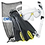Cressi Mask Fin Snorkel Set, Yellow,...