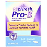 RepHresh Pro-B Probiotic Feminine Supplement, 30-Count Capsules ~ Rephresh