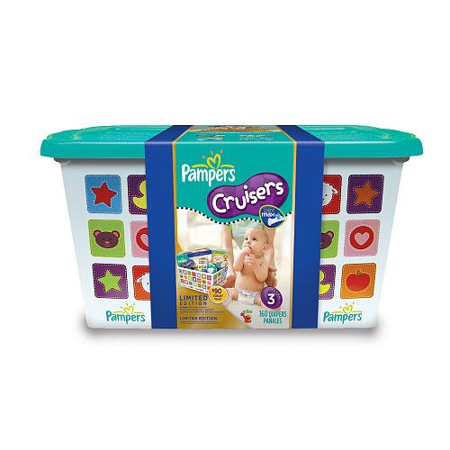 Pampers Cruisers 160 Ct Diaper Tote Box - Size 3