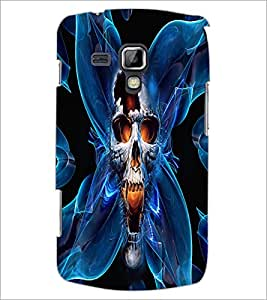 PrintDhaba Skull D-2684 Back Case Cover for SAMSUNG GALAXY S DUOS 2 S7582 (Multi-Coloured)