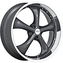 Status Retro 20 Gray Wheel / Rim 5×4.5 with a 35mm Offset and a 73.1 Hub Bore. Partnumber S818KL5F35GA73