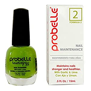 Probelle Nail Maintenance with Garlic and Lime, Formula 2, Clear, .5 Fluid Ounce