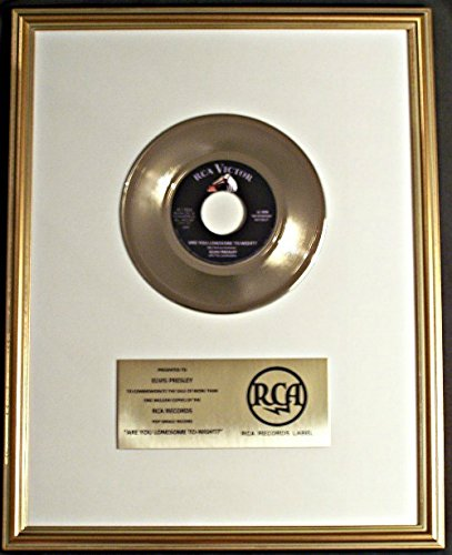 elvis-presley-are-you-lonesome-to-night-45-gold-record-award-rca-records
