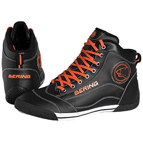 Bering - Baskets moto Bering POP - Taille: 43 - Couleur: Noir/orange