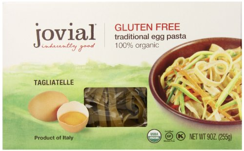 Jovial Foods Organic Gluten Free Traditional Egg Pasta, Egg Tagliatelle, 9 ounce (Jovial Egg Pasta compare prices)