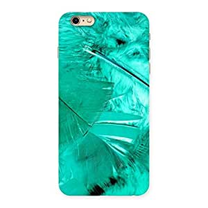 Cute Feather Cyan Back Case Cover for iPhone 6 Plus 6S Plus
