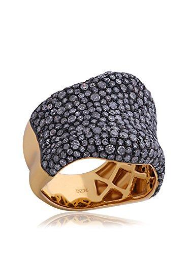 Socheec Gorgeous Diamond Pavé Cigar Band Ring