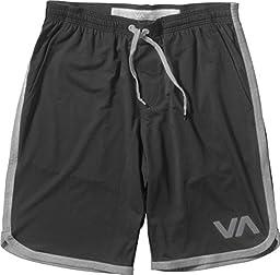 RVCA Men\'s VA Sport Short II,Black/Athletic,Large