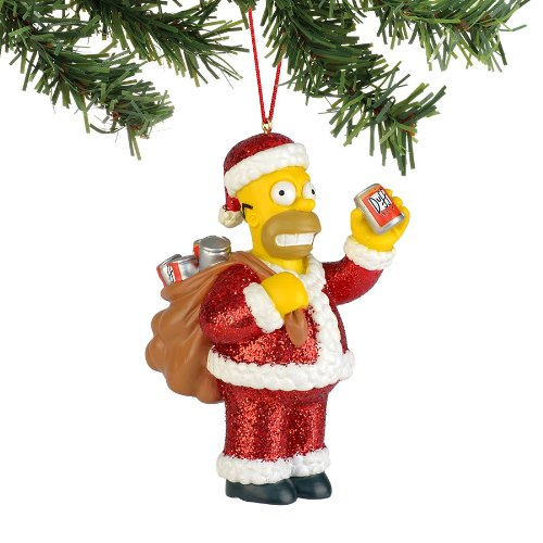 Department 56 The Simpson's from Santa Homer Ornament
