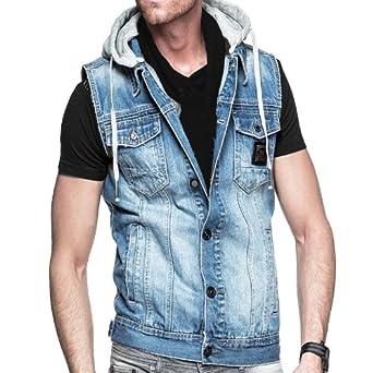 Voi Jeans Sankey SS14 Mens Denim Hooded Top - Denim Light Wash - X Large