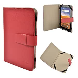 """Rot Kunstleder Tasche case cover Hülle f. 7"""" Zoll ePad aPad Android Tablet PC, 7"""" 7 Zoll Android Tablet PC, ASUS GOOGLE Nexus 7, 2.2 EASY TAB, MID, Apad, Epad, 7 Zoll Amazon kindle fire, NEW e reader book, Blackberry playerbook, Huawei Mediapad, T-Mobile SpringBoard 7"""", 7"""" Kobo VOX, Nook Color SAMSUNG GALAXY TAB 2 7.0 P3100 P3110/P6200/P1000 Universal"""